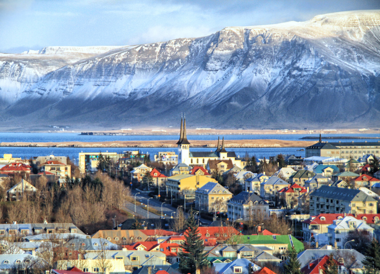 Reykjavik city (Smoky Bay in Icelandic) it is largest city in Iceland.